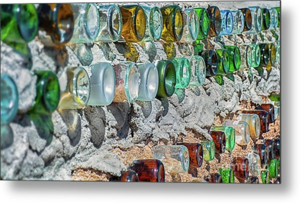Earthship Wall Metal Print