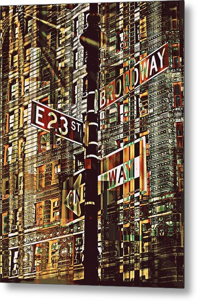 East 23rd And Broadway Metal Print by Teodoro De La Santa