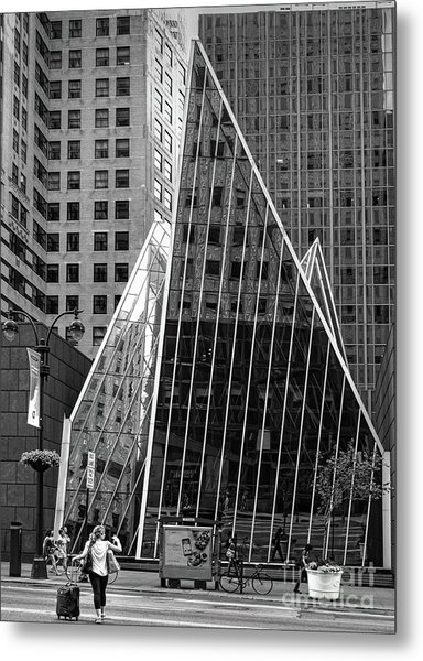 East 42nd Street, New York City  -17663-bw Metal Print