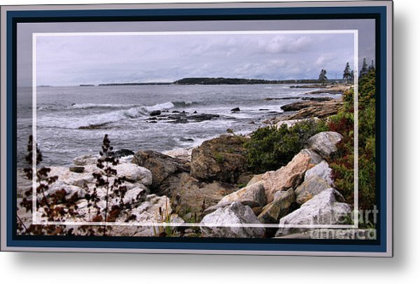 East Boothbay, Maine Ocean View, Framed Metal Print by Sandra Huston