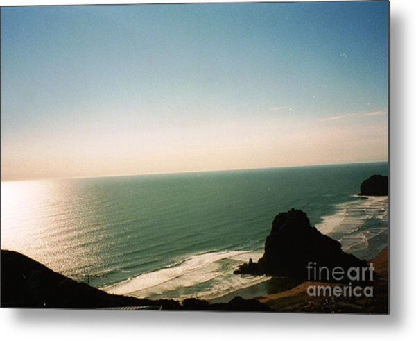 East Coastline In New Zealand Metal Print