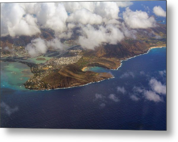 East Oahu From The Air Metal Print