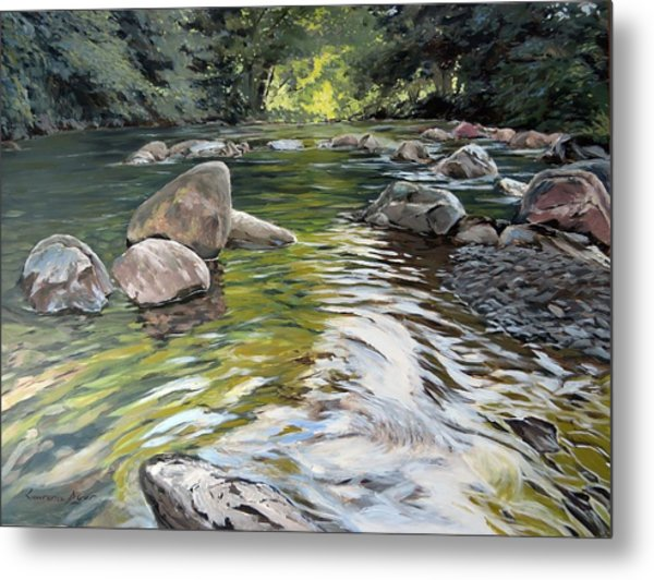 East Okement River Metal Print