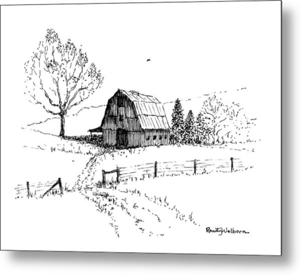 East Texas Hay Barn Metal Print