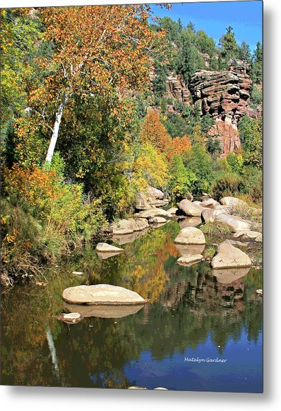 East Verde Fall Crossing Metal Print
