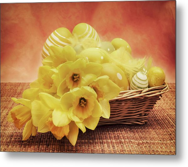 Easter Basket Metal Print