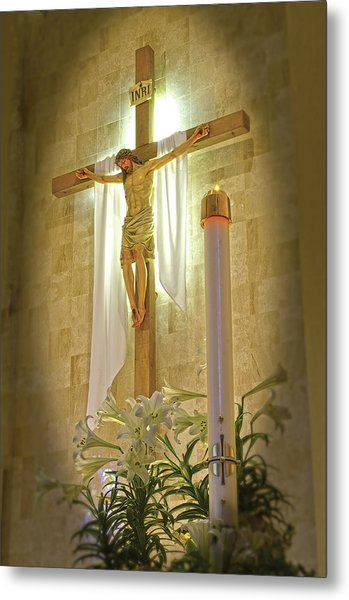 Easter Candle Metal Print by Don Wolf