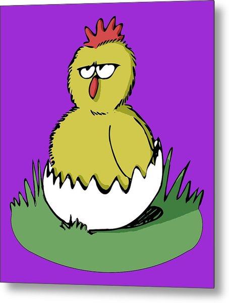 Easter Chicken Metal Print