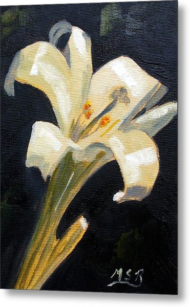 Easter Lilly Metal Print by Maria Soto Robbins