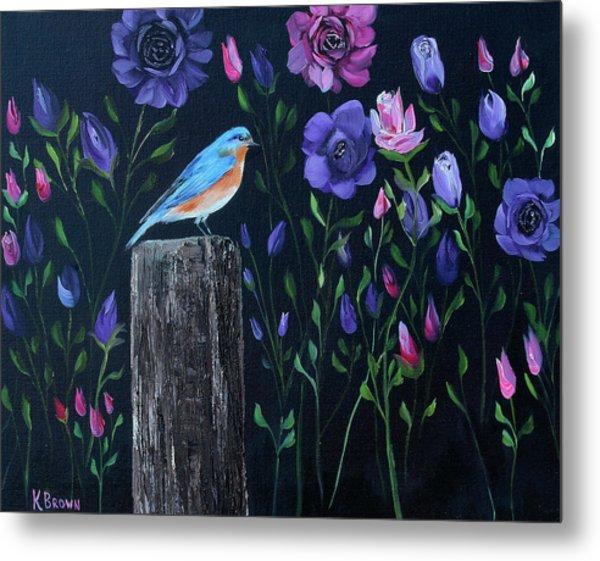 Eastern Blue Bird Metal Print