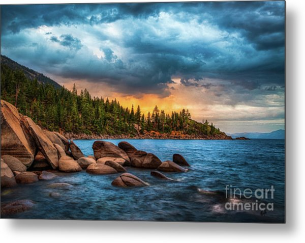 Eastern Glow At Sunset Metal Print