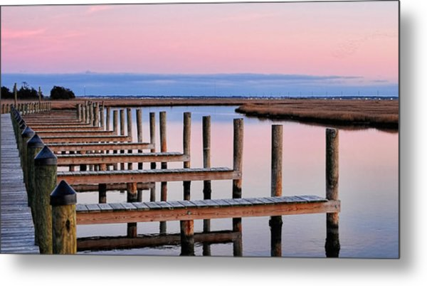 Eastern Shore On The Docks Metal Print