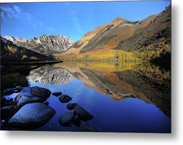 Eastern Sierra Reflection Metal Print