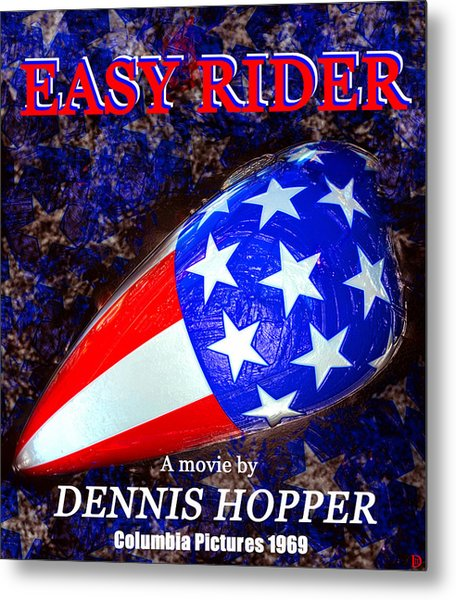 Easy Rider Movie Poster A Metal Print