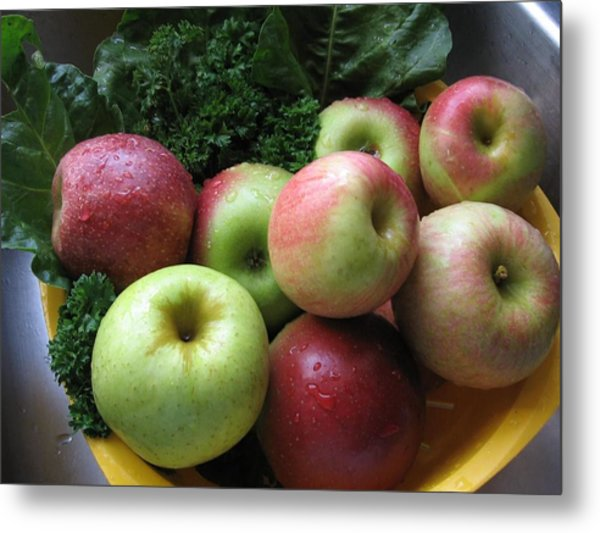 Metal Print featuring the photograph Eat Healthy Stay Healthy by Deb Martin-Webster