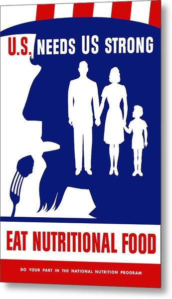 Uncle Sam - Eat Nutritional Food Metal Print