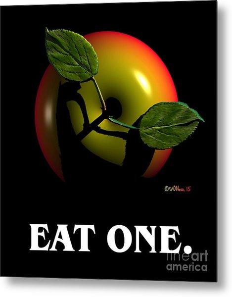 Eat One  Metal Print