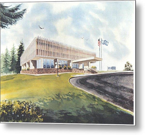 Eaton Corp Administration Building Metal Print