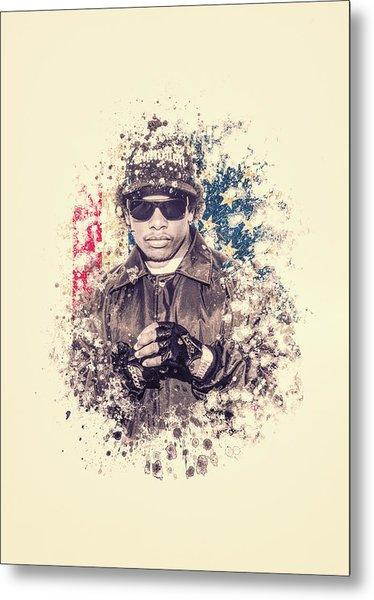 Eazy-e Splatter Painting Metal Print