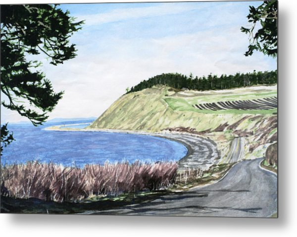 Ebey's Landing Metal Print by Perry Woodfin