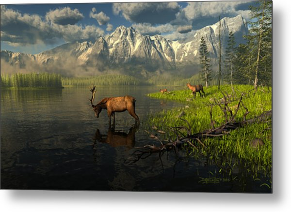 Echoes Of A Lost Frontier Metal Print