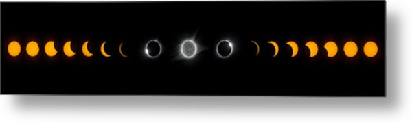 Eclipse Progression Metal Print