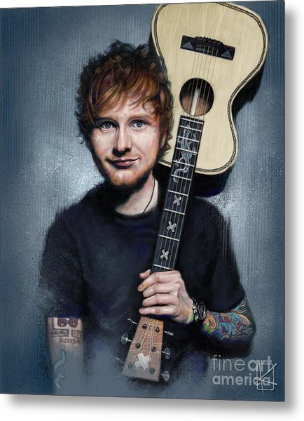 Ed Sheeran Metal Print
