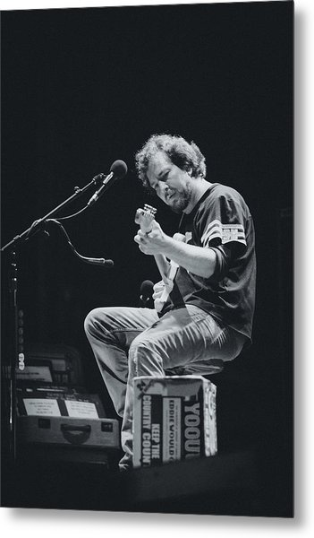 Eddie Vedder Playing Live Metal Print