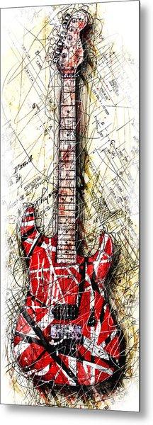 Eddie's Guitar Vert 1a Metal Print