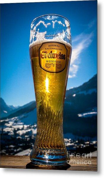 Edelweiss Beer In Kirchberg Austria Metal Print