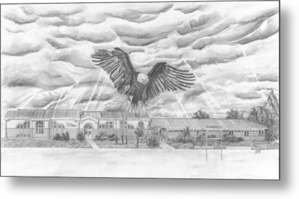 Edgerton School Metal Print by Dean Herbert