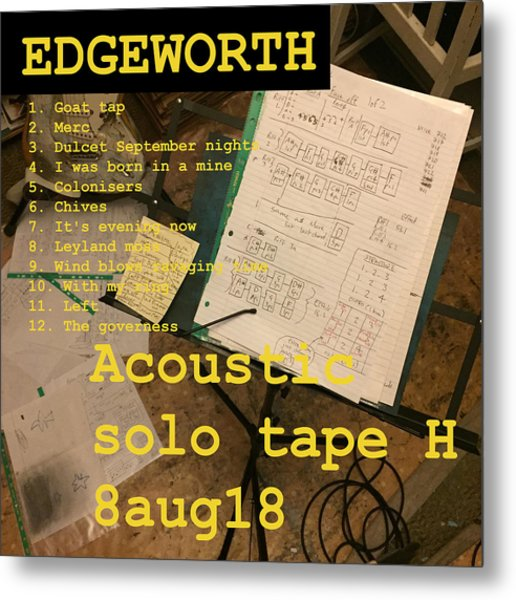 Edgeworth Acoustic Solo Tape H Metal Print