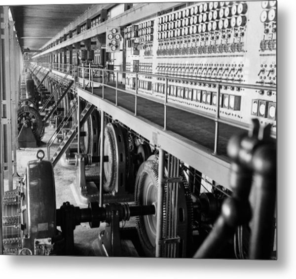 Edison Sault Power Plant At Sault Ste Metal Print by Everett