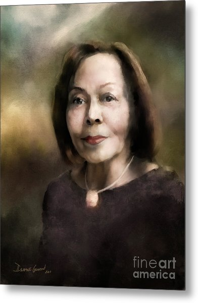 Metal Print featuring the digital art Edith G. by Dwayne Glapion
