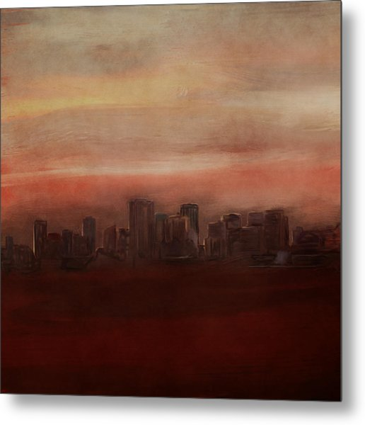 Edmonton At Sunset Metal Print