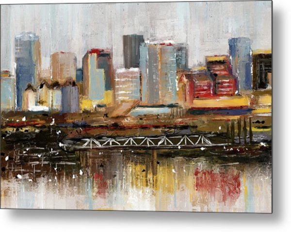 Edmonton Skyline Abstract1 Metal Print