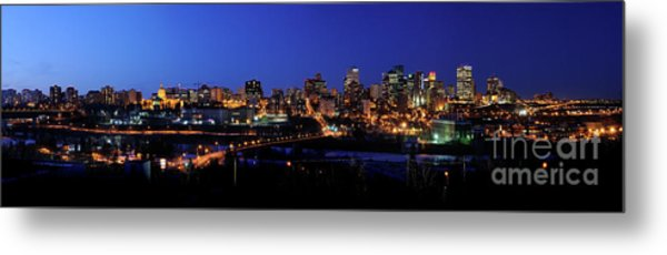 Edmonton Skyline Panorama 4 Metal Print by Terry Elniski
