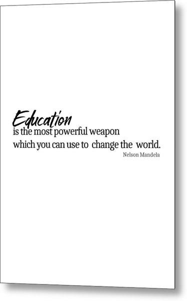 Education #minimalism Metal Print