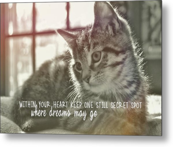 Edward Quote Metal Print by JAMART Photography