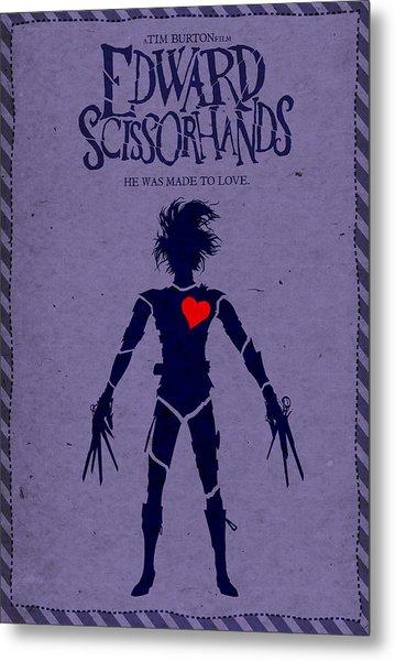 Edward Scissorhands Alternative Poster Metal Print