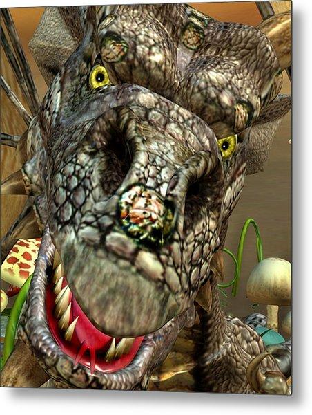 'edwin' Dragon - Shows His Cute Side ....... Metal Print