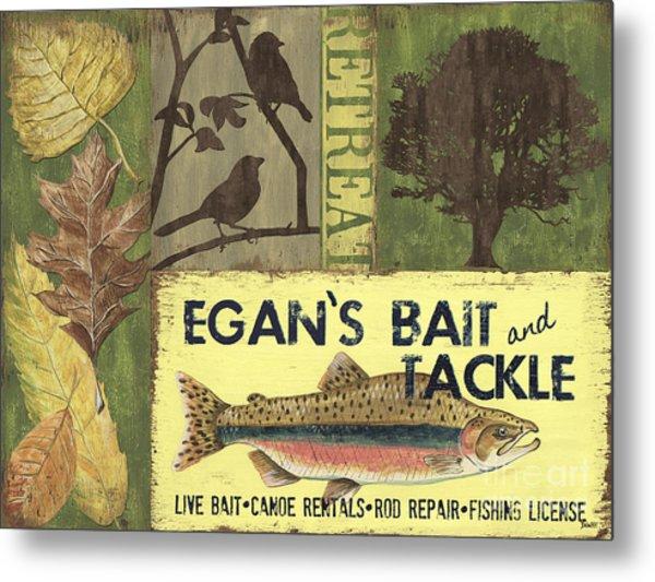 Egan's Bait And Tackle Lodge Metal Print