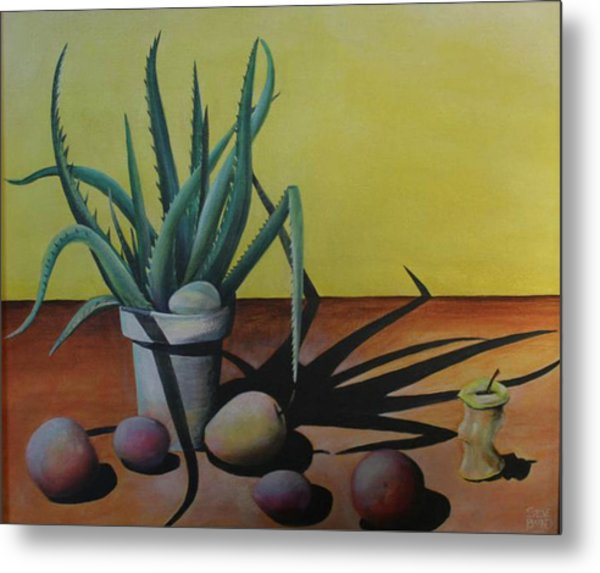 Egg And Aloe Metal Print