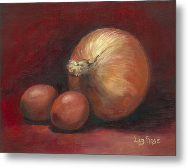 Eggs And Onions Metal Print by Liz Rose