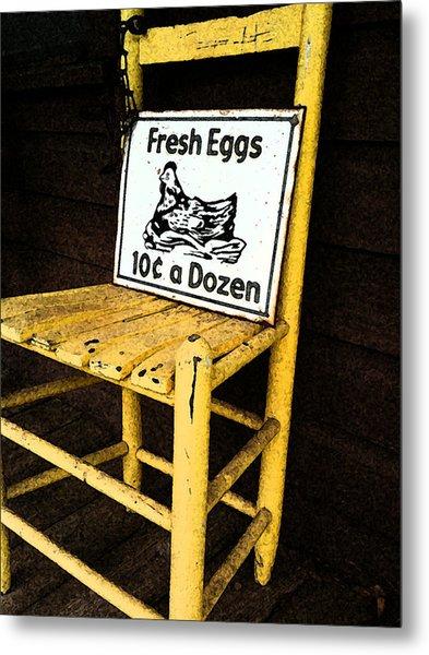 Eggs For Sale Metal Print by Lori Mellen-Pagliaro