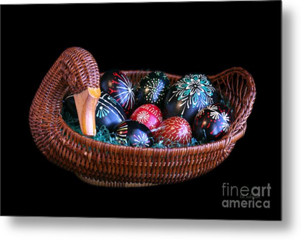 Eggs In A Goose Basket Metal Print