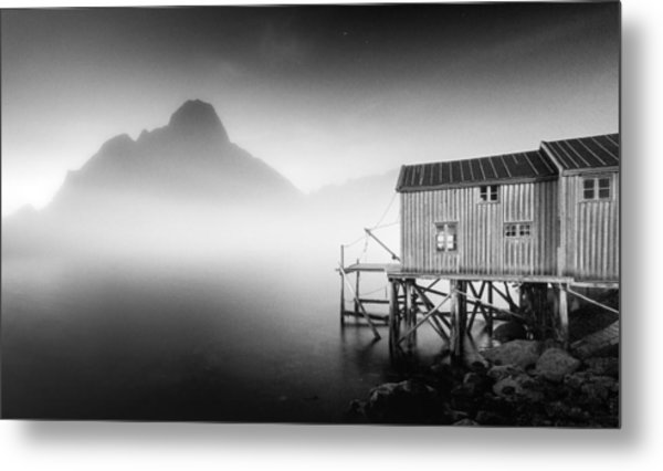 Egulfed By Mist Metal Print