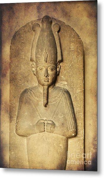 Egyptian Pharaoh. Metal Print
