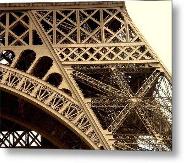 Eiffel Structure 2 Metal Print by John Julio