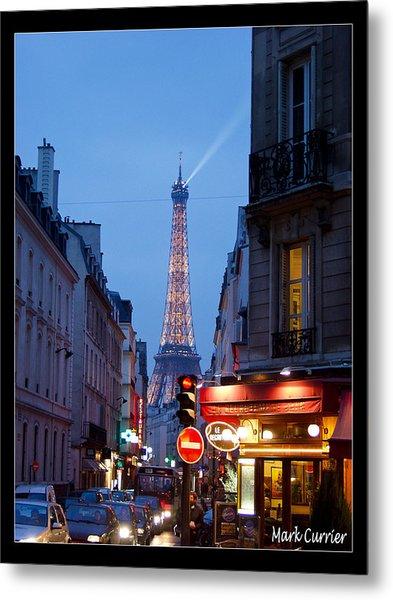 Eiffel Suburb At Dusk Metal Print
